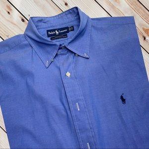 RALPH LAUREN POLO Men's Classic Blue Dress Shirt